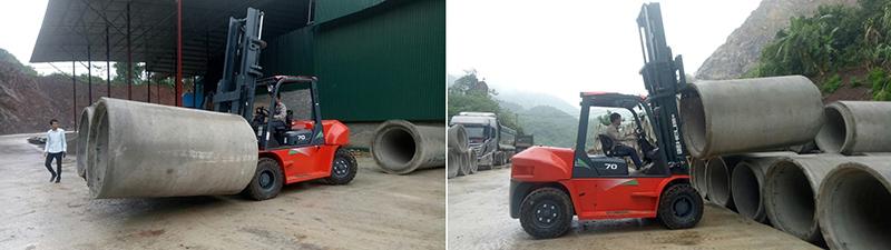xe nâng Heli 7 tấn tại nhà máy bê tông