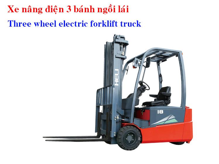 Three Wheel Electric Forklift Truck