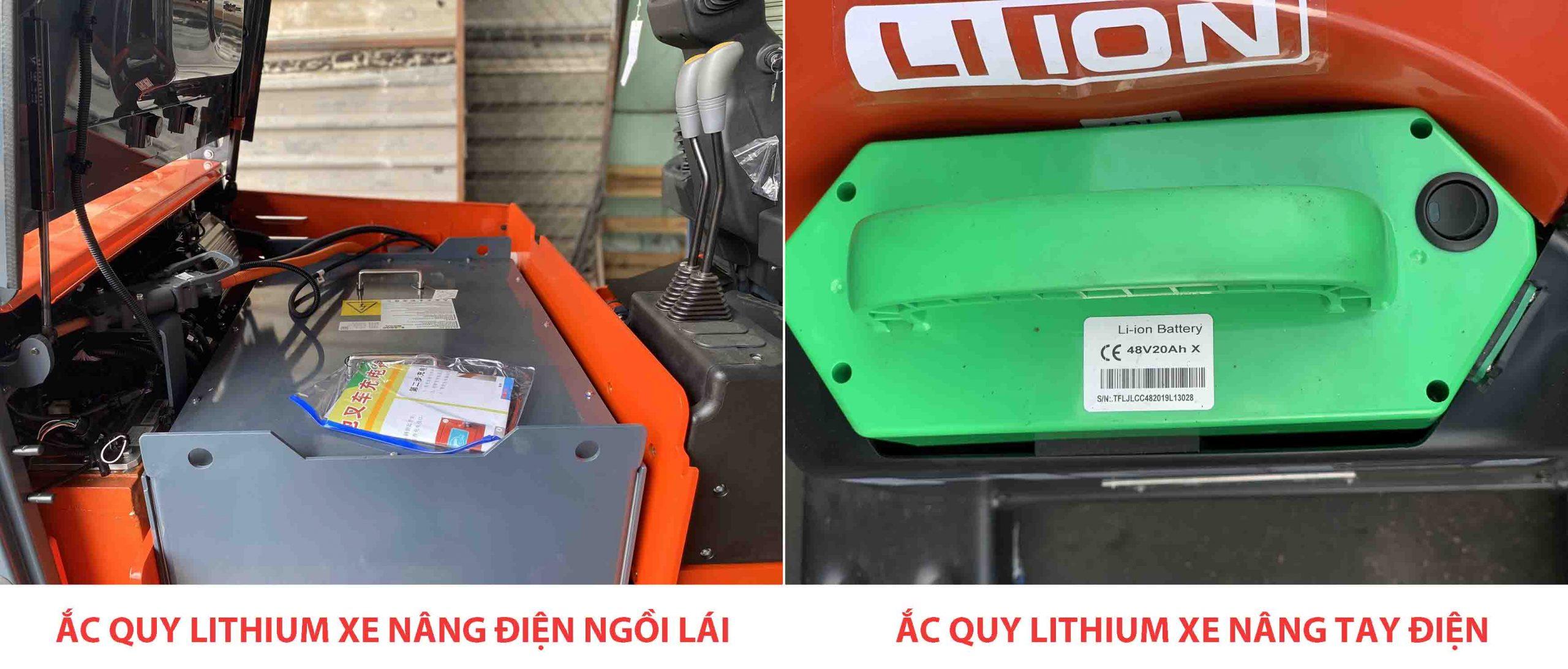 Ắc quy Lithium trên xe nâng