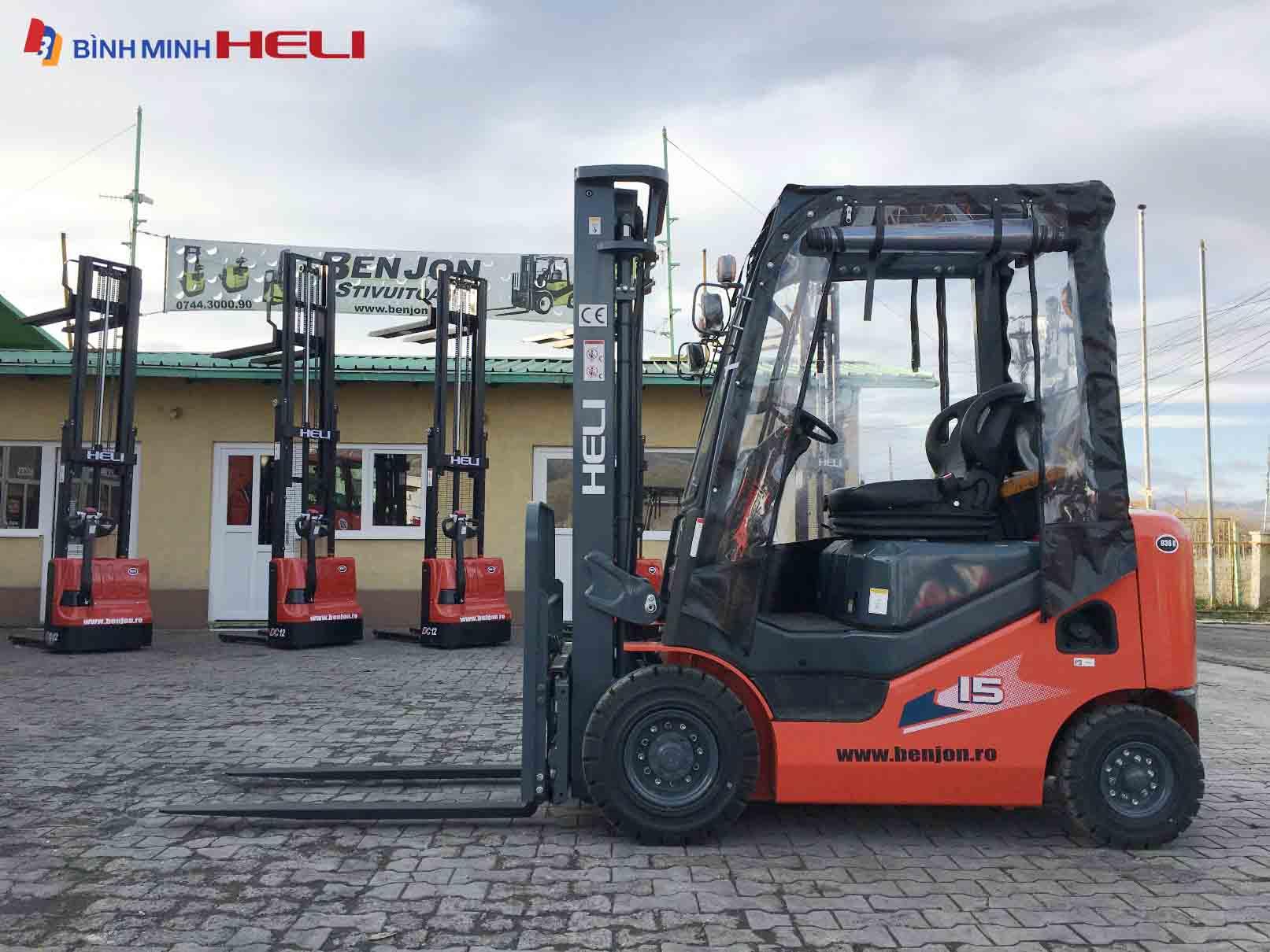 Xe nâng dầu Heli CPCD15-WS1H