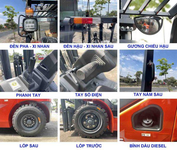 Các bộ phận chính xe nâng Heli 3 tấn H3 series