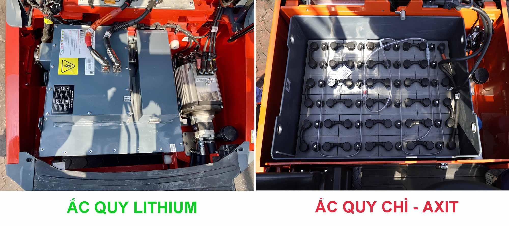 phân biệt ắc quy axit chì và lithium
