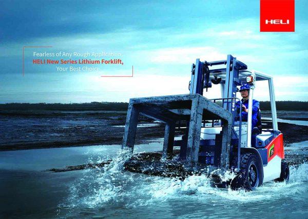 Xe nâng điện Heli dùng ắc quy Lithium
