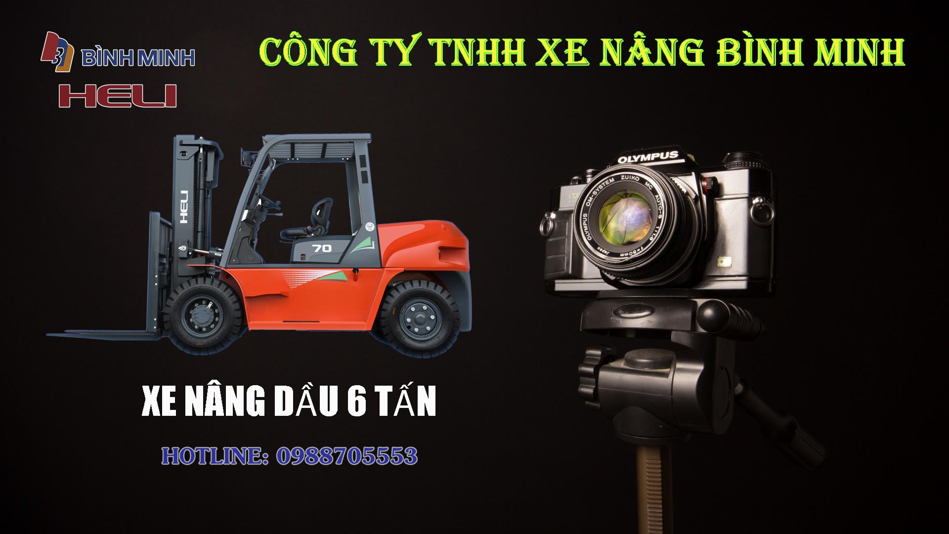 Xe nâng 6 tấn Heli tại Việt Nam