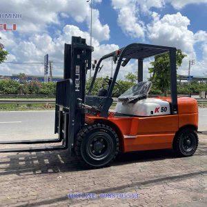 Xe nâng hàng Heli chạy dầu 5 tấn