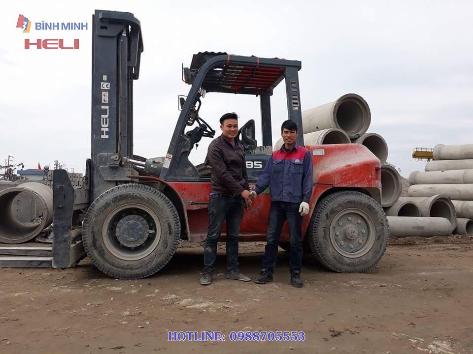 Bảo Hành Xe Nâng Dầu 8.5 Tấn Hei Cho Khách Hàng