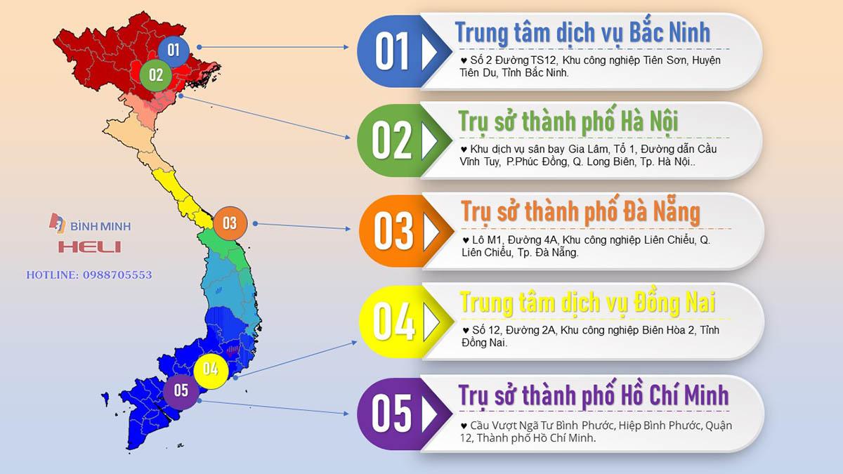 Hệ Thống Xe Nâng Bình Minh Bắc Trung Nam